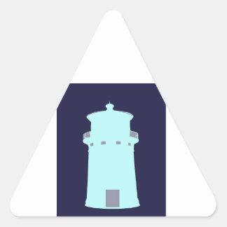 Aqua Lighthouse with Grey Triangle Sticker