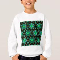 Aqua Lime and Yellow Pattern Sweatshirt