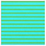 [ Thumbnail: Aqua & Lime Green Pattern of Stripes Fabric ]