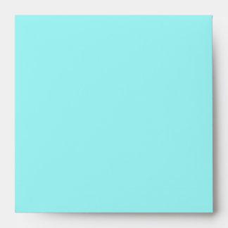 Aqua Lined Square Envelope