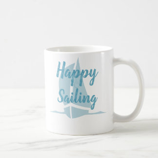 Aqua Love & Happy Sailing Coffee Mug