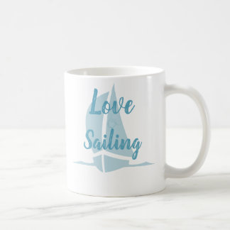 Aqua Love Sailing Coffee Mug