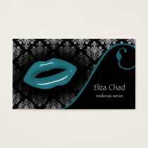 aqua Makeup artist Business Cards