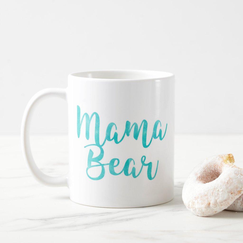 Aqua Mama Bear Mug