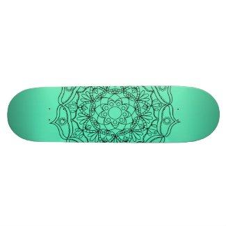 Aqua mandala Skateboard deck