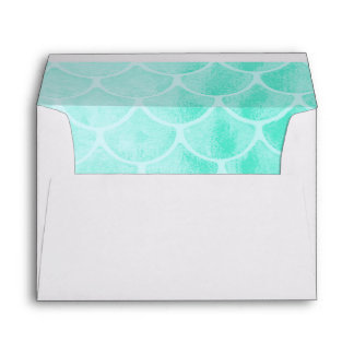Aqua Mermaid Scales | Seashell Envelope