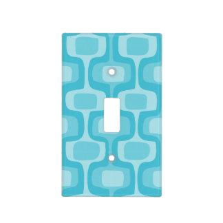 Aqua Mid-Century Modern Geometric Light Switch Cover