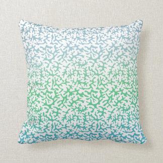 Aqua Mint Coral Ombre Pillow