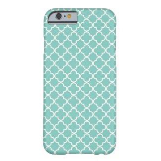 Aqua Mint Quatrefoil Pattern iPhone 6 Case