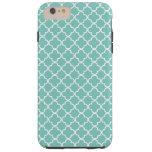 Aqua Mint Quatrefoil Pattern Tough iPhone 6 Plus Case