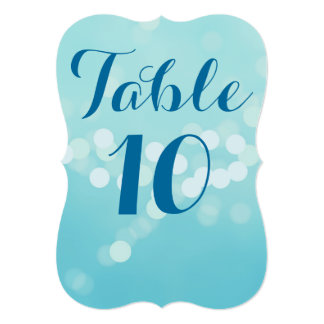 Aqua Modern 5 x 7 Table Numbers