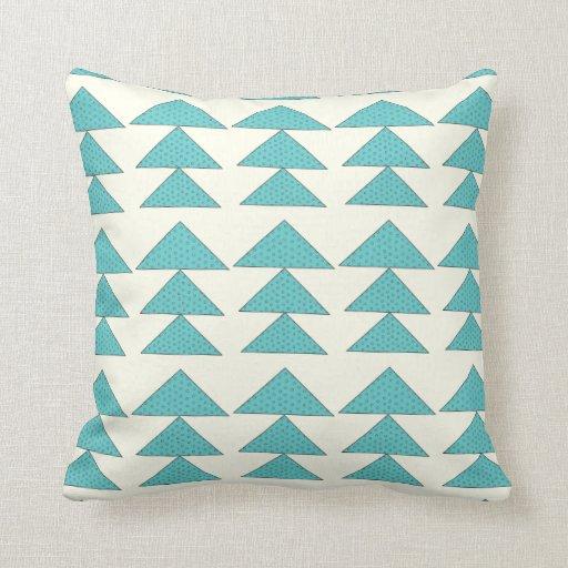 Aqua Modern Arrow Pattern Design Pillow Zazzle