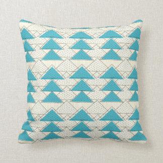 Aqua Modern Arrow Stylized Mountain Pattern Pillow