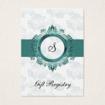 aqua monogram  Gift registry  Cards