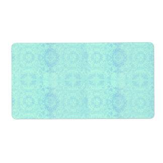 Aqua Muted Vintage Lace LikeTheme Label