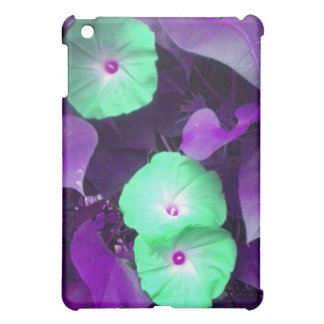 Aqua N Violet Morning Glories iPad Mini iPad Mini Covers