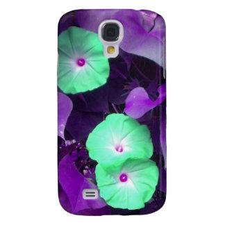 Aqua N Violet Morning Glories iPhone 3 case