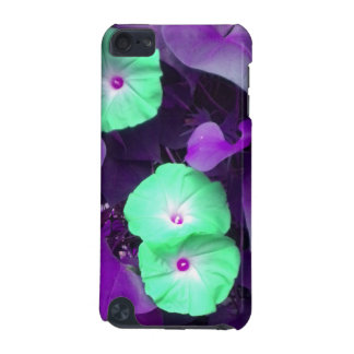 Aqua N Violet Morning Glories iPod Touch case