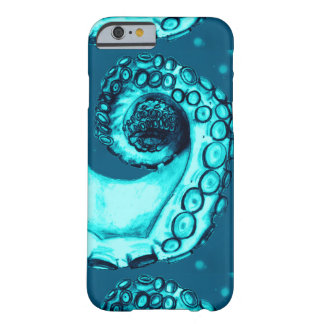 Aqua & Navy Nautical Octopus Tentacle iPhone6 Case Barely There iPhone 6 Case