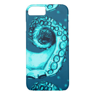 Aqua & Navy Nautical Octopus Tentacle iPhone7 Case