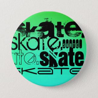 Aqua, Neon Green Gradient; Skate Button