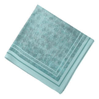 Aqua Nubby Chenille Fabric Texture Bandana