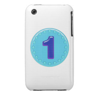 Aqua Number 1 iPhone 3 Covers