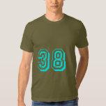 Aqua Number 38 T-shirt
