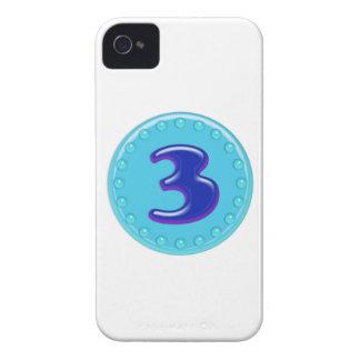 Aqua Number 3 iPhone 4 Case-Mate Case