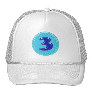 Aqua Number 3 Trucker Hat