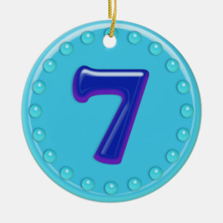 Number 7 ornaments number 7 ornament designs zazzle for Number of ornaments for christmas tree