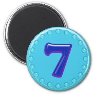 Aqua Number 7 Magnet