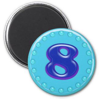 Aqua Number 8 Magnet