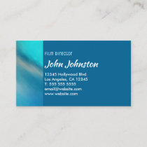 Aqua Ocean Blue Abstract Northern Lights Business Card