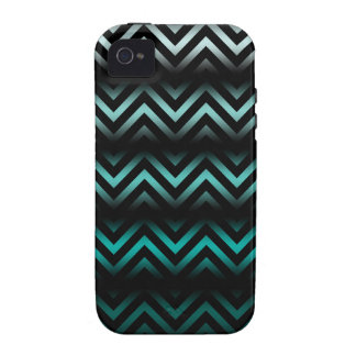 Aqua Ombre Chevron Case For The iPhone 4