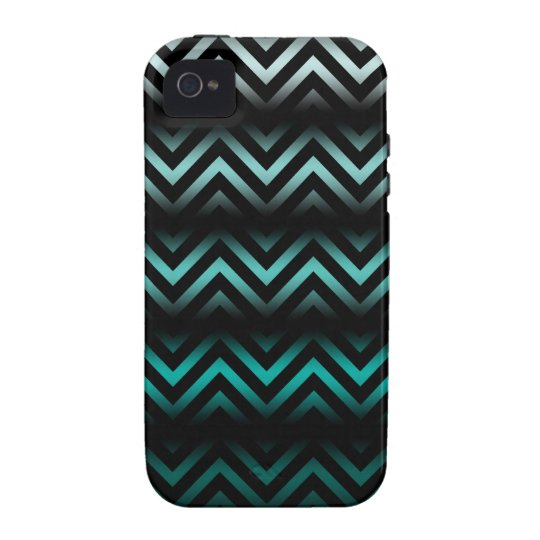 Aqua Ombre Chevron iPhone 4/4S Case