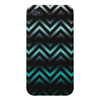 Aqua Ombre Chevron iPhone 4 Cover