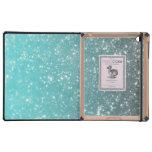 Aqua Ombre Glitter iPad Case