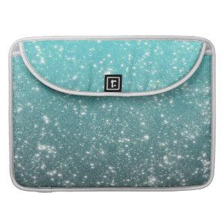Aqua Ombre Glitter Sleeve For MacBook Pro