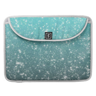 Aqua Ombre Glitter Sleeve For MacBooks
