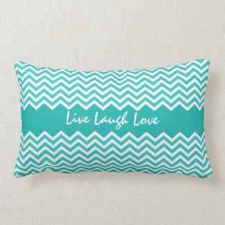Aqua or teal chevron zigzag pattern custom pillow