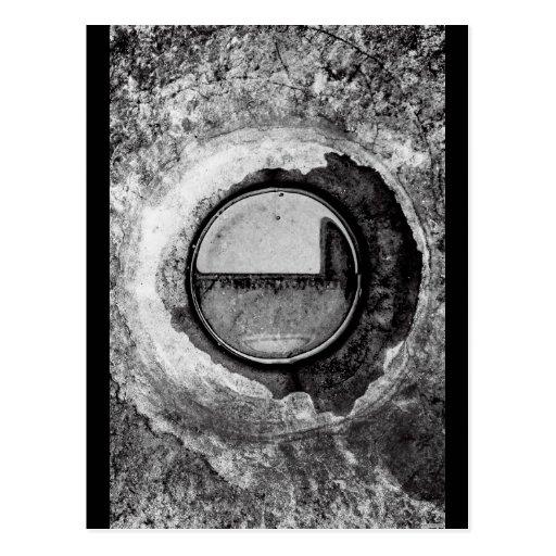 """Aqua Orb Grey"" JTG Art Postcard"