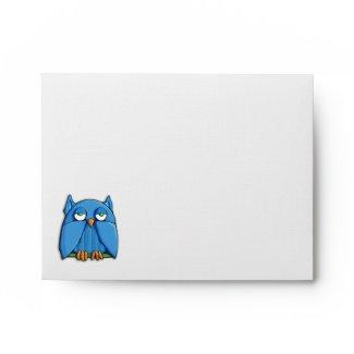 Aqua Owl A2 Note Card Envelope zazzle_envelope