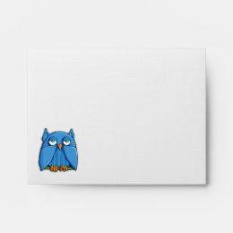 Aqua Owl A2 Note Card Envelope