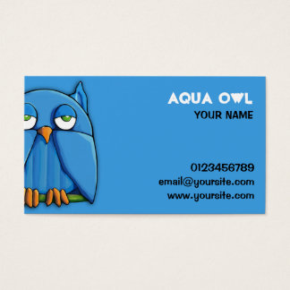 Aqua Owl aqua Business Card