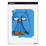 Aqua Owl aqua iPad 3 Skin