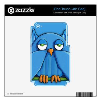 Aqua Owl aqua iPod Touch (4th Gen) Skin iPod Touch 4G Decal
