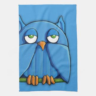 Aqua Owl aqua Kitchen Towel