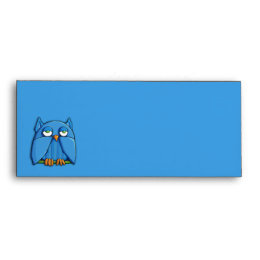 Aqua Owl aqua Letterhead Envelope