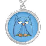 Aqua Owl aqua Necklace